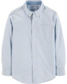 carters Kid Boy Striped Dobby Button-Front Shirt