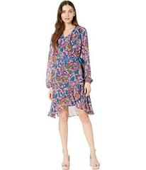 Betsey Johnson Long Sleeve Cherry Print Wrap Dress