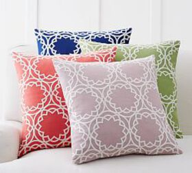 Pottery Barn Geo Circle Embroidered Pillow Cover