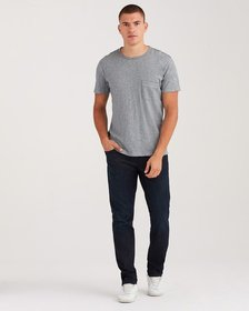 7 For All Mankind Slimmy with Clean Pocket in Dark