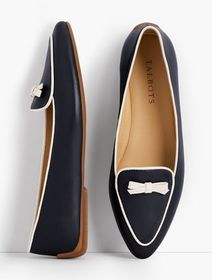 Talbots Francesca Piped Bow-Detail Flats