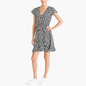 J. Crew factory womens Printed ruffle faux-wrap dr