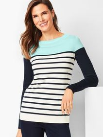 Talbots Colorblock Stripe Sweater