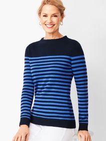 Talbots Stripe Mockneck Sweater