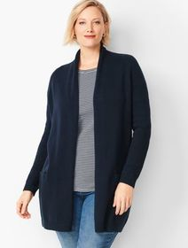 Talbots Plus Size Exclusive Shawl-Collar Duster
