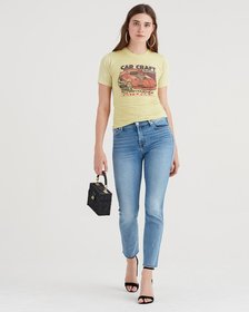 7 For All Mankind Luxe Vintage Edie with Cut Off H