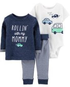 Osh Kosh Baby Boy3-Piece Car Pullover Set