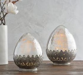Pottery Barn Madeline Mercury Glass Eggs