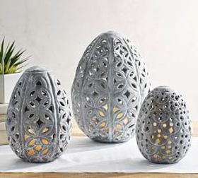 Pottery Barn Punched Zinc Eggs