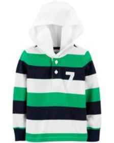 carters Toddler Boy Hooded Rugby Top
