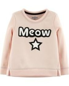 carters Baby Girl Meow Pullover
