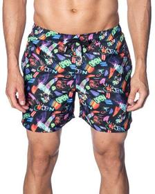 Jared Lang Men's Neon Lights Print Swim Trunks
