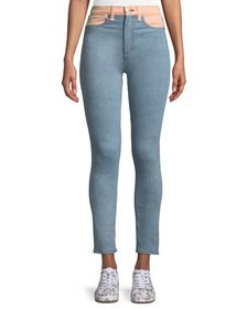 Rag & Bone Phila High-Rise Skinny Jeans with Color