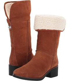 COACH Turnlock Faux Shearling Boot