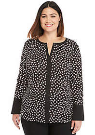 The Limited Plus Size Contrast Bell Sleeve Blouse