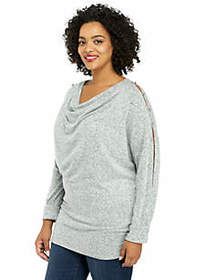 The Limited Plus Size Cozy Puff Sleeve Pullover
