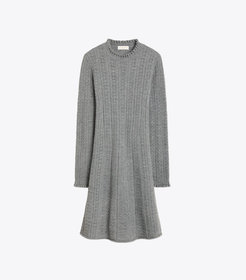 Tory Burch POINTELLE KNIT DRESS