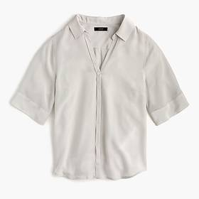 J. Crew Petite short-sleeve button-up shirt in sil