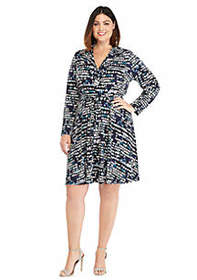 The Limited Plus Size 3/4 Sleeve Wrap Dress