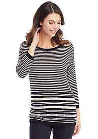 The Limited Petite Burnout Stripe Sweater