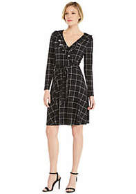 The Limited Petite 3/4 Sleeve Wrap Dress