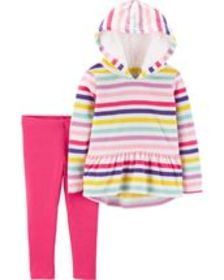 Osh Kosh Baby Girl2-Piece Striped Fleece Hoodie &