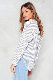 Nasty Gal Get in Line Striped Top