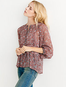 Lucky Brand Floral Printed Peasant