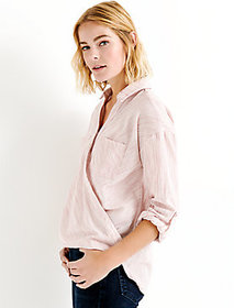 Lucky Brand Wrap Front Top