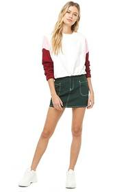 Forever21 Colorblock Drawstring Pullover