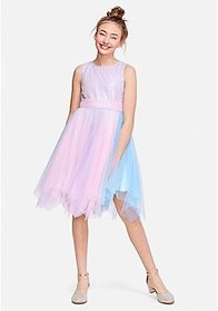Justice Pastel Sequin Tulle Dress