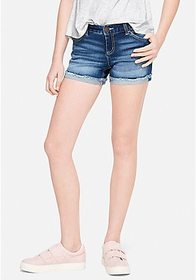 Justice Relaxed Denim Midi Shorts