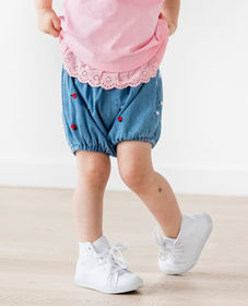 Hanna Andersson Embroidered Chambray Shorts