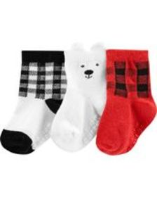 Osh Kosh Baby Boy3-Pack Bear Crew Socks