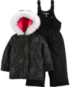 Osh Kosh Toddler Girl2-Piece Star Snowsuit Set