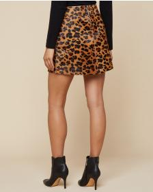 Juicy Couture Leopard Print Pony Hair Skirt