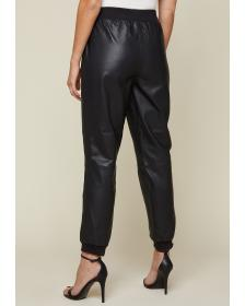 Juicy Couture Black Leather Track Pant