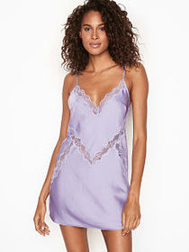 Victoria Secret Dream Angels Satin Lace-trim Slip