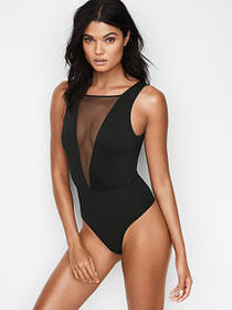Victoria Secret Very Sexy Mesh Plunge Bodysuit