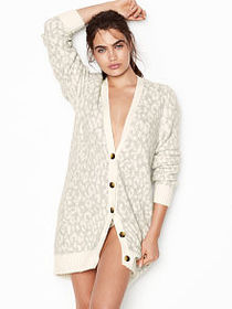 Victoria Secret Leopard Cardigan