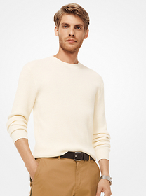 Michael Kors Ribbed Cotton-Blend Pullover