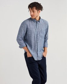 7 For All Mankind Long Sleeve Linen Front Pocket S