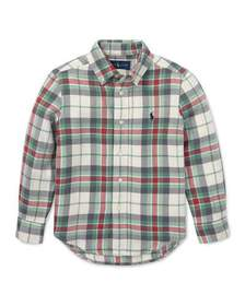 Ralph Lauren Childrenswear Long-Sleeve Plaid Butto