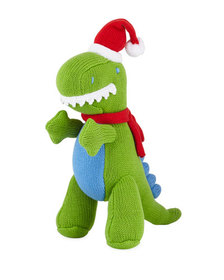 Zubels Knit Christmas T-Rex Doll 12