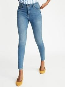 High-Waisted Rockstar Super Skinny Ankle Jeans For