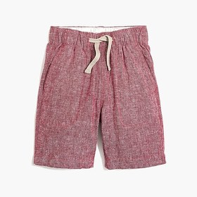 J. Crew Factory Boys' pull-on short in linen-cotto
