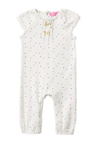 Isaac Mizrahi Dot Pattern Coverall (Baby Girls)