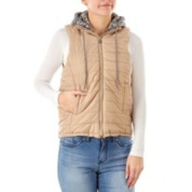J2 BY JOUJOU Puffer Vest with Fleece Marled Print