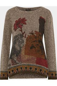 ETRO Printed marled wool and cashmere-blend sweate