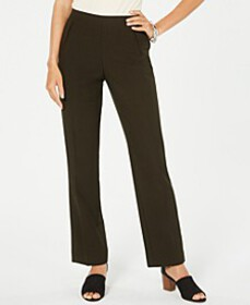 Style & Co Tummy-Control Pull-On Straight-leg Pant